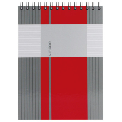 Blok kolegij A5 crte 80L spirala gore mat+lak Linear Marker 4-65